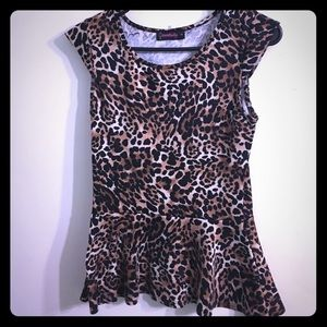 Cheetah print peplum top!