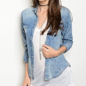 Tops - 🆕 Denim mineral wash top