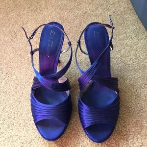 Lulu Townsend Shoes Blue And Black Lasce
