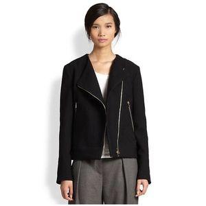 L'AGENCE Jackets & Blazers - L'AGENCE Cotton & Wool Moto Jacket.