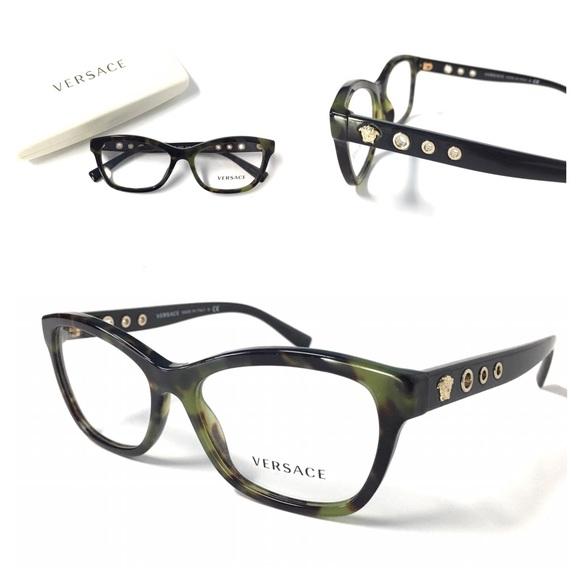 e7077ab017d2 VERSACE Women s Eyeglasses Olive Tortoise NWOT!!! M 581f4f805a49d0bc6406f06c
