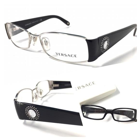408df5ba21de VERSACE Women s Eyeglasses NWOT Silver Black. M 581f517bd14d7b5a5206f1aa