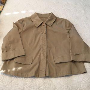 Comfy cropped khaki jacket