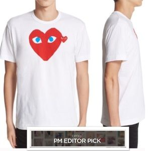 Comme des Garcons Other - Comme des Garcons Red Play T-Shirt w/ Blue Eyes