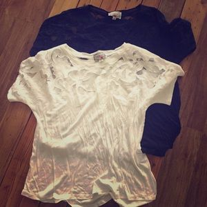 Anthropologie lace top calabas lace top
