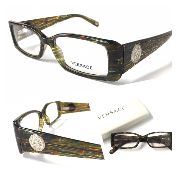 e68d35f72b38 VERSACE Women s Eyeglasses NWOT Crystal Green. M 581f5987f0137deeb60709a2