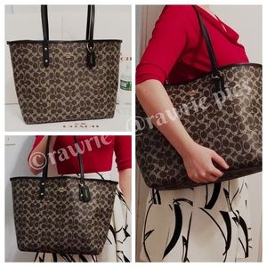LOWEST 🎀 New Coach signature XL large travel tote