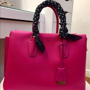 MCM Handbags - MCM milla tote bag in pink