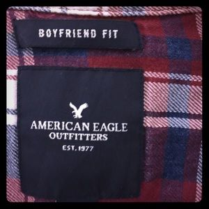 Burgundy flannel shirt from American Eagle