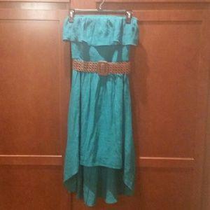 Iz Byer Dresses & Skirts - ♡Beautiful Teal Strapless Dress!