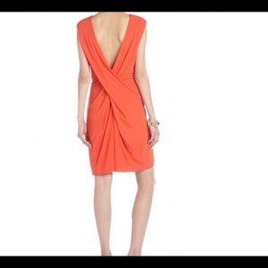 T by Alexander Wang Dresses & Skirts - T by Alexander Wang orange draped cross Back dress