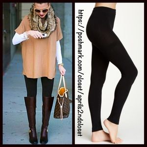 Boutique Pants - FLEECE LINED FOOTLESS TIGHTS Leggings