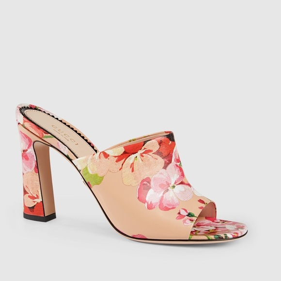 8f274a163ee Gucci Shoes - Gucci Blooms block heel sandals in gold and pink