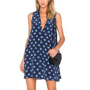 "Equipment ""Mina"" heart print dress, 100% silk"