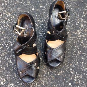 MICHAEL Michael Kors Shoes - [Michael Kors] Black strappy heels sz 7
