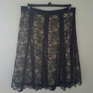Apostrophe  Dresses & Skirts - Last Call Donating Black Lace Full Skirt