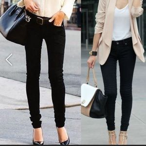 Celebrity Pink Denim - Low rise , Black skinny jeans, like new!