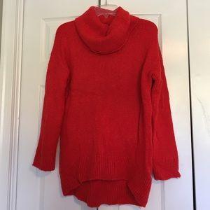 H&M burnt orange long turtleneck sweater