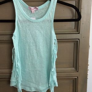 New with tags mint green tank