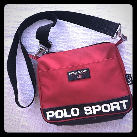 27525a3d17a2 Polo sport purse bag cross body red