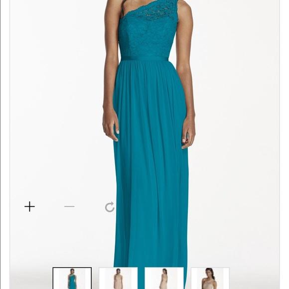 Plus size 30 teal bridesmaids Dress