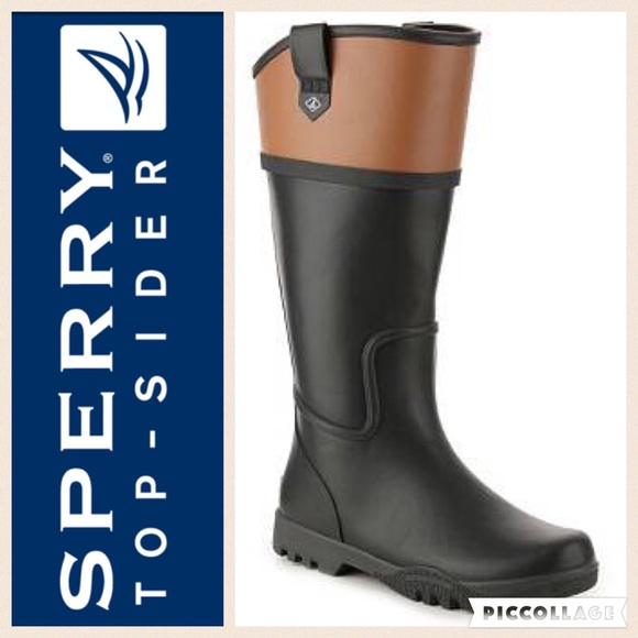 c4814c20b75 ☔️Sperry Nellie Kate Waterproof Rain Boot Blk Tan.  M 581f6b7141b4e0bcf207554a. Other Shoes you may like. Sperry Top Sider ...