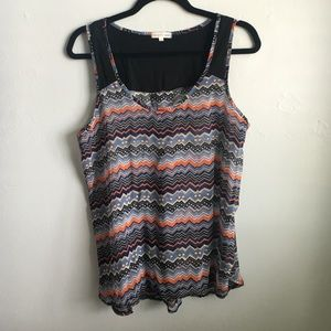 Tops - Sheer Printed Tank | Thyme and Honey