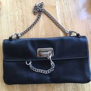 MICHAEL Michael Kors Black Leather Clutch