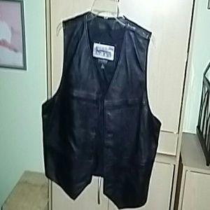 Other - Mens real leather biker vest