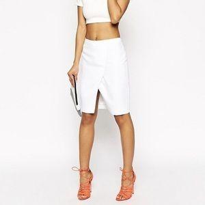 White ASOS Wrap Pencil Skirt