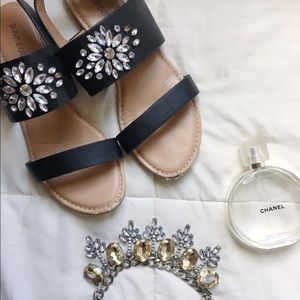 bamboo Shoes - Jeweled Sandals 🎀