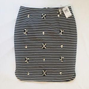 Joa Dresses & Skirts - 🆕 Joa Striped Skirt with Rhinestones