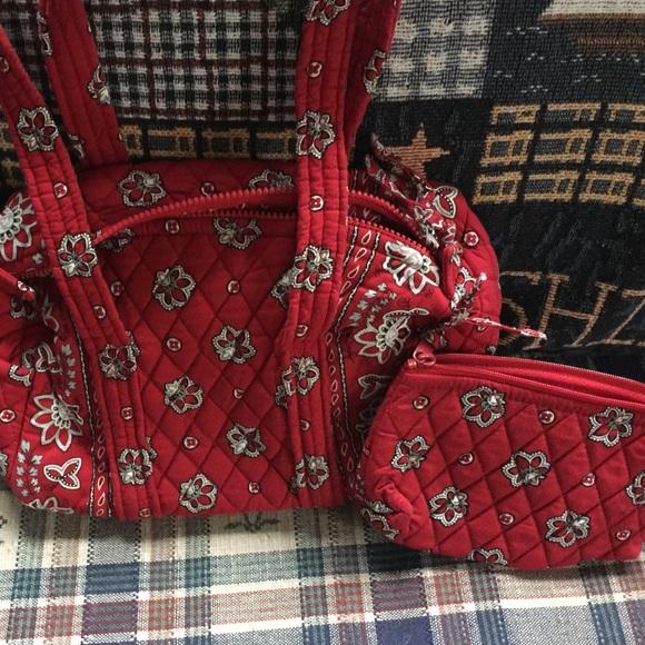 Vera Bradley Bags   Bag And Small Purse Red Black White   Poshmark 7d1f8cf3ec