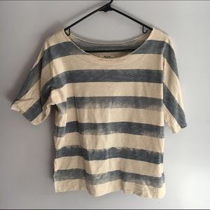 Madewell ss striped top