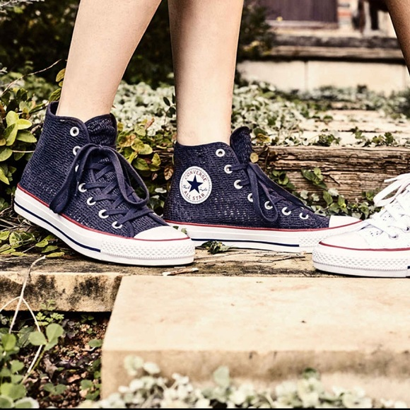 Converse All Star Crochet High Tops NWT