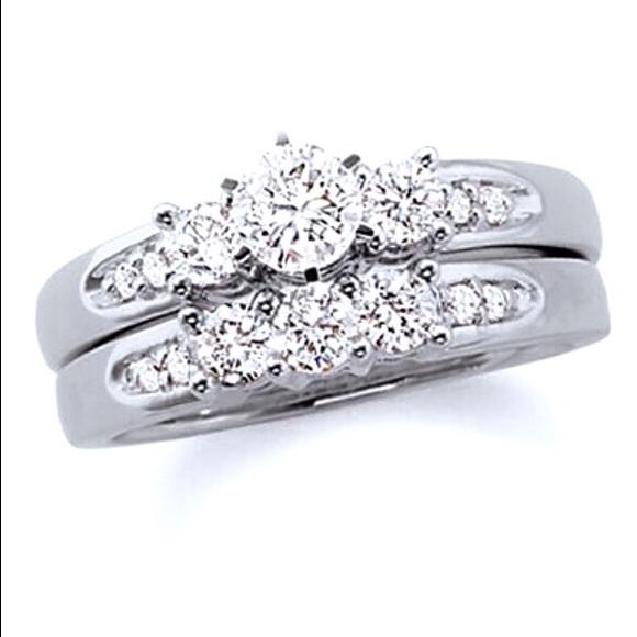 Zales Wedding Sets.Brilliant Buy Diamond Three Stone Bridal Set