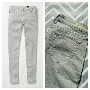 AG Stevie Ankle Slim Polka dot Jeans