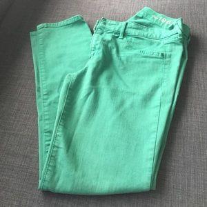 GAP green legging jean