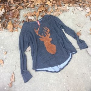 Tops - Oh Deer Shirt Size L
