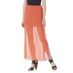 Illusion Maxi Skirt - Grenadine