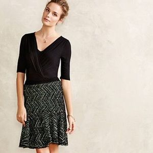Anthropologie Pop Tweed Skirt by Moth