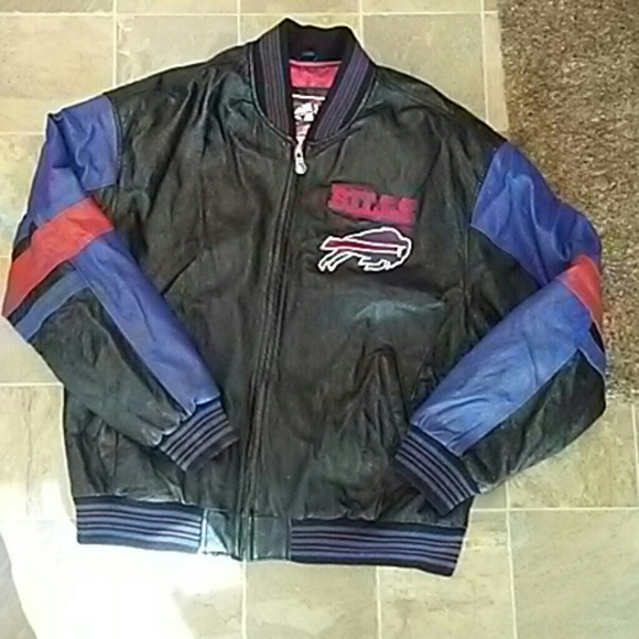 55df315ee70 FLASH SALE Authentic Buffalo Bills leather jacket.  M 581f83ca4225be0f2d07aa88