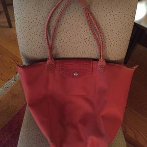 Longchamp Handbags - Lonchamp Nylon Tote with Leather Handals