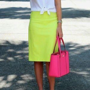 J. Crew Dresses & Skirts - J. Crew Neon Green Pencil Skirt
