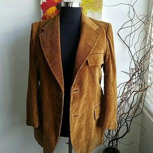 Menswear jacket size 46 Corduroy tan