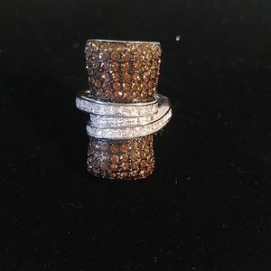 Jewelry - silver and brown ring