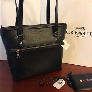 Coach Bags - New - Coach Black Zip Tote Bag   Coach Pacman Bag 0f8364cae0705
