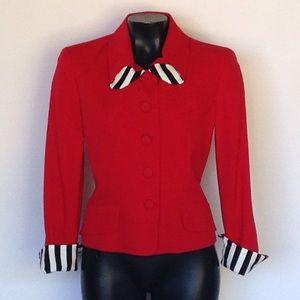 Moschino Jackets & Blazers - 🎉LOWEST🎉MOSCHINO CHEAP&CHIC RED HOT JACKET