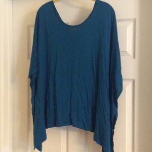 GORGEOUS TEAL OVERSIZE OFF SHOULDER TOP