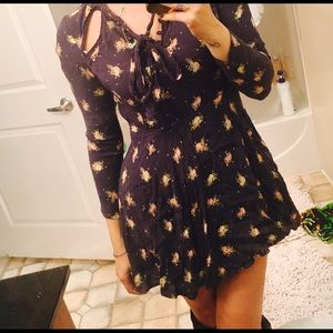 Free People Floral Cut Away Dress